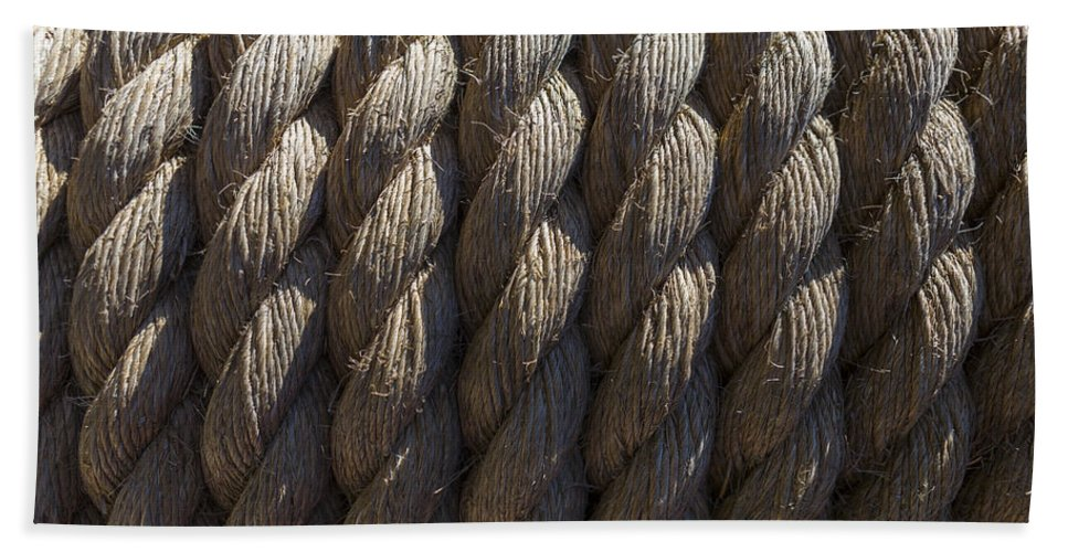 Rope Beach Towel featuring the photograph Wrapped Up Tight by Scott Campbell