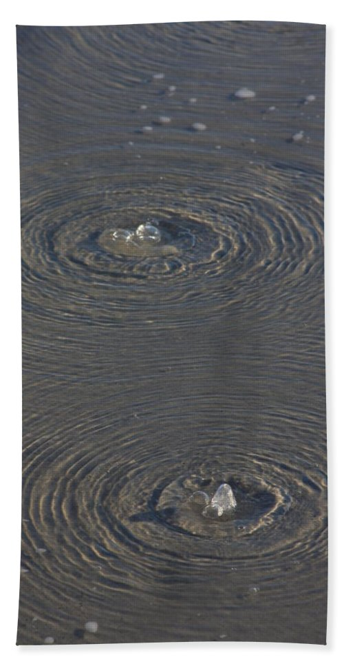 Wrightsville Beach Beach Towel featuring the photograph Wrightsville Beach Bubbles by Mountains to the Sea Photo
