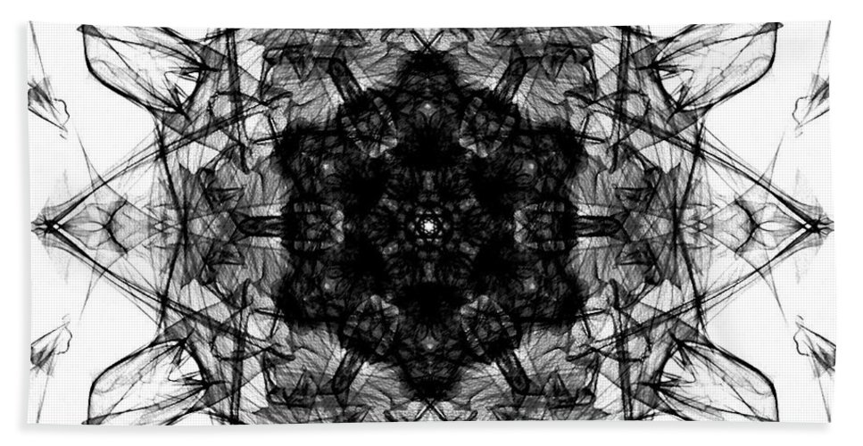 Snowflake Beach Towel featuring the digital art X-ray Of A Snowflake by George Pedro