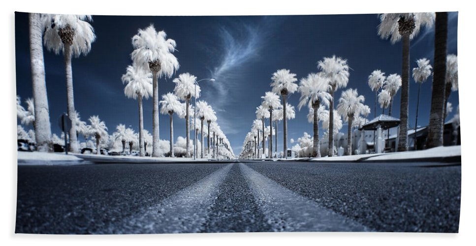 Infrared Beach Towel featuring the photograph X by Sean Foster