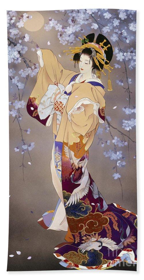 Haruyo Morita Beach Towel featuring the digital art Yoi by MGL Meiklejohn Graphics Licensing