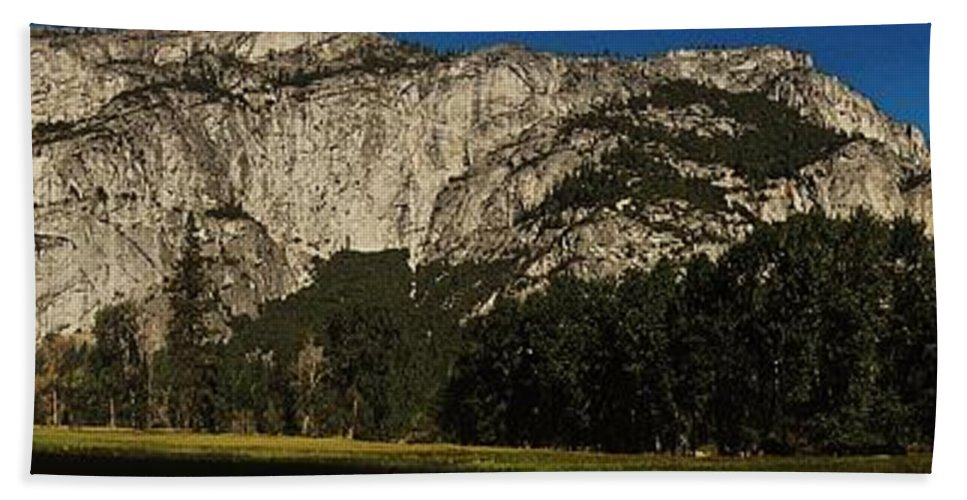 Yosemite Beach Towel featuring the photograph Yosemite Panorama by Benjamin Yeager