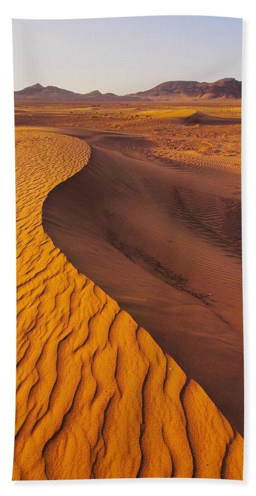 Desert Beach Towel featuring the photograph Zagora Desert In Morocco by Karol Kozlowski