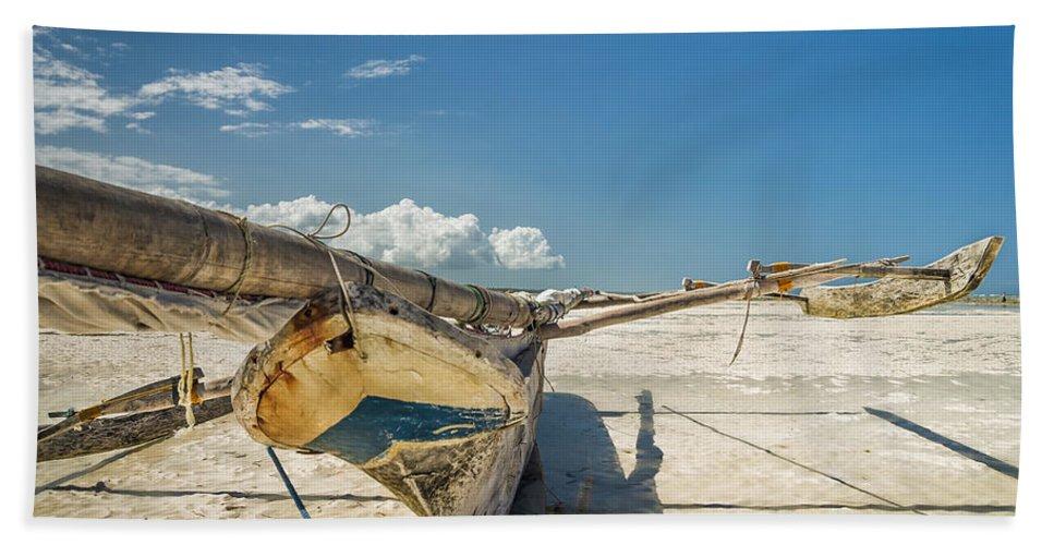 3scape Beach Sheet featuring the photograph Zanzibar Outrigger by Adam Romanowicz