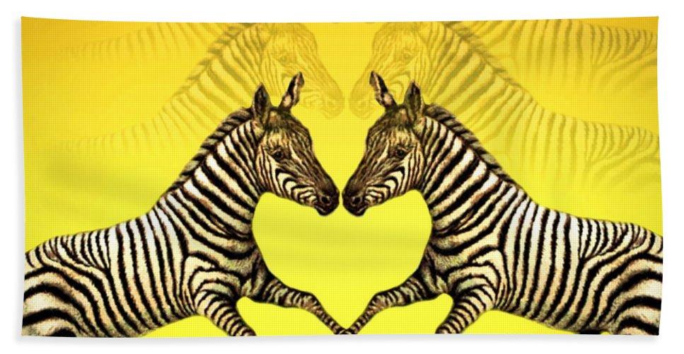 Zebra Beach Towel featuring the photograph Zebra Heart by Joyce Dickens