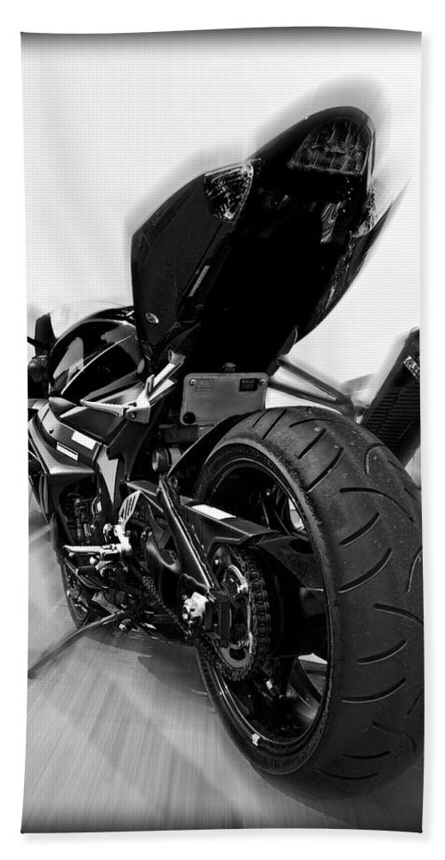 Suzuki Beach Towel featuring the photograph Zoomed Gsxr by Ricky Barnard