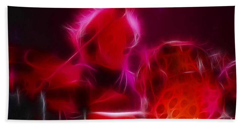 Abstract Beach Towel featuring the photograph Zz Top-frank-rhythmeen-d23-fractal by Gary Gingrich Galleries