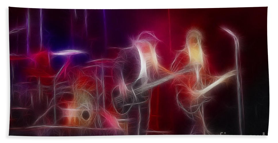Abstract Beach Towel featuring the photograph Zz Top-rhythmeen-c23-fractal-4 by Gary Gingrich Galleries