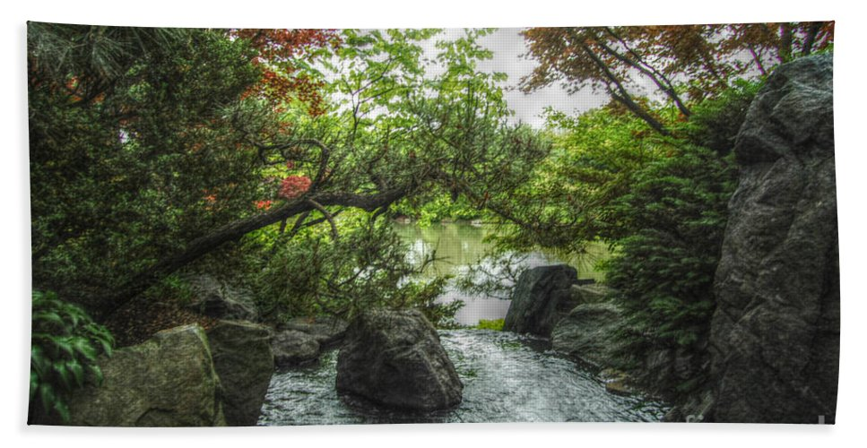 Landscape Beach Towel featuring the photograph  A Mystical Place by Peggy Franz