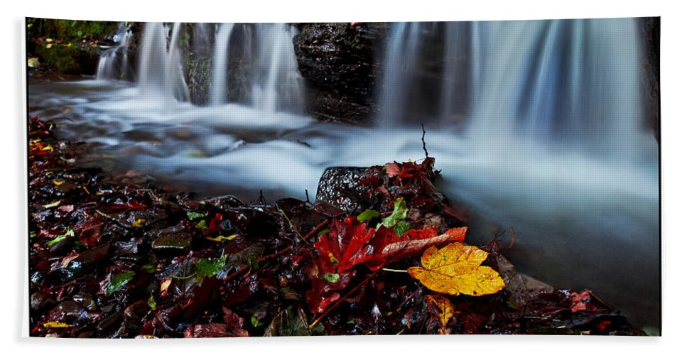 Autumn Beach Towel featuring the photograph Autumnal Falls by Beverly Cash