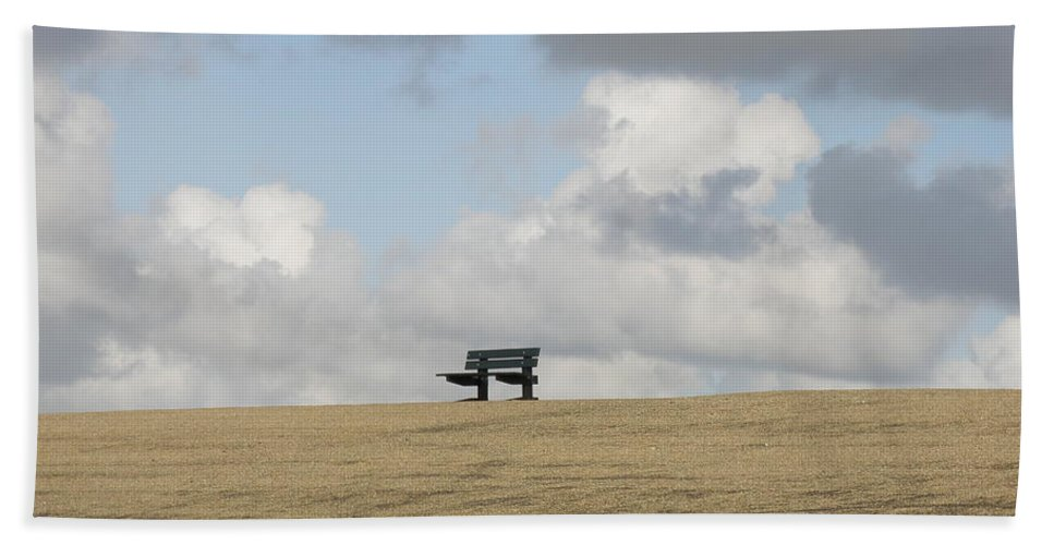 Bench Beach Towel featuring the photograph Away From It All by Lainie Wrightson