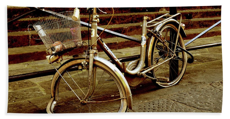 Bike Beach Towel featuring the photograph Bicycle Breakdown by La Dolce Vita