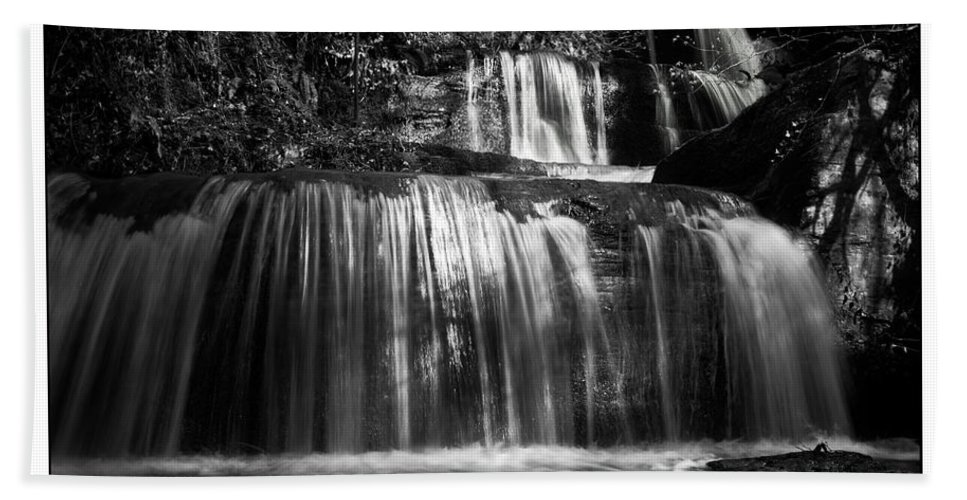 Mono Beach Towel featuring the photograph Intense Falls by Beverly Cash