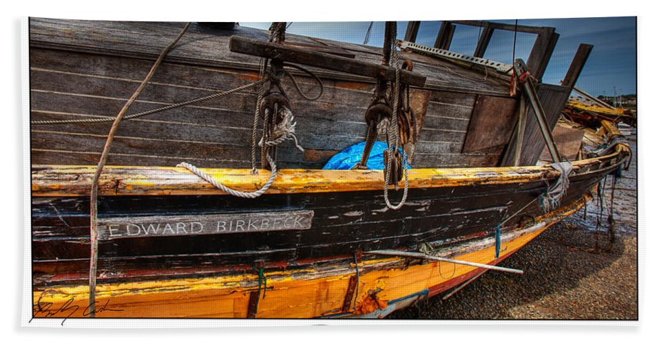 Old Beach Towel featuring the photograph Relics - Edward Birkbeck by Beverly Cash