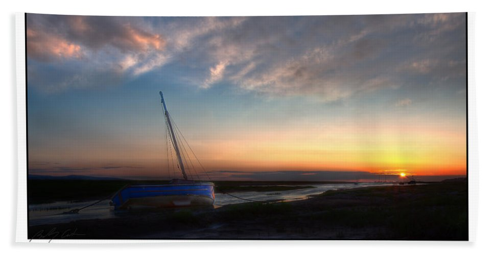 Sunset Beach Towel featuring the photograph Sunset Down The River by Beverly Cash