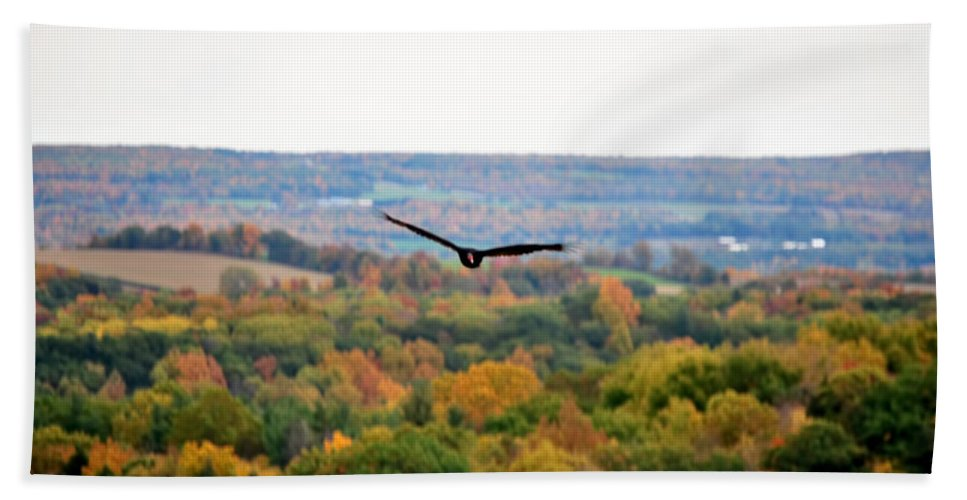 Beach Towel featuring the photograph 001 Letchworth State Park Series by Michael Frank Jr
