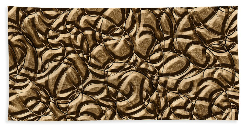 Abstract Beach Towel featuring the digital art 0443 Metals And Malleability by Chowdary V Arikatla