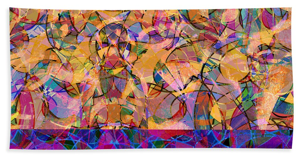 Abstract Beach Towel featuring the digital art 0672 Abstract Thought by Chowdary V Arikatla
