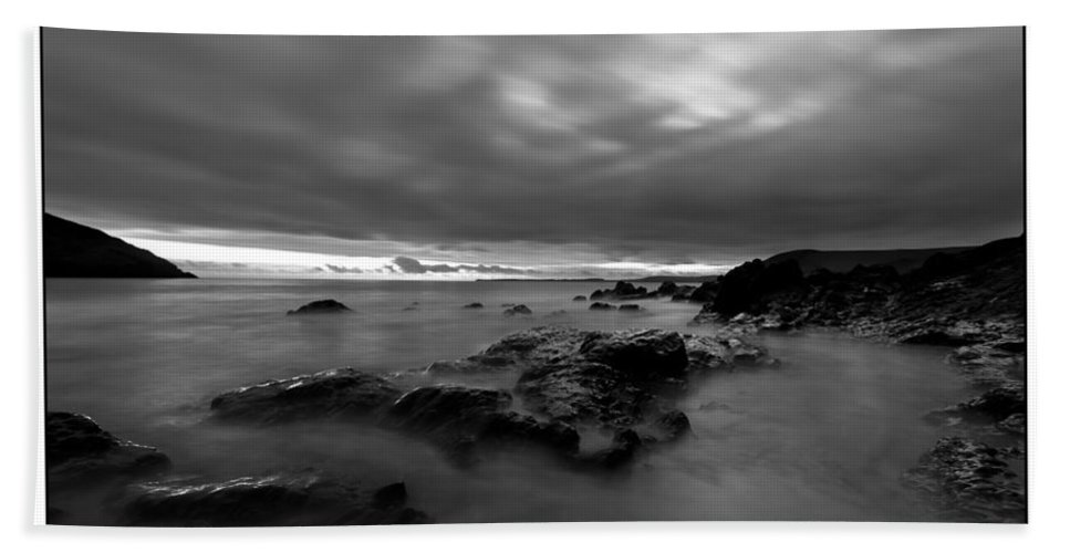 Seascape Beach Towel featuring the photograph  by Beverly Cash
