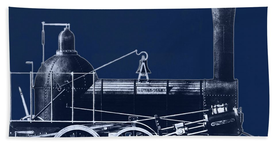 Historic Beach Towel featuring the photograph 19th Century Locomotive by Omikron