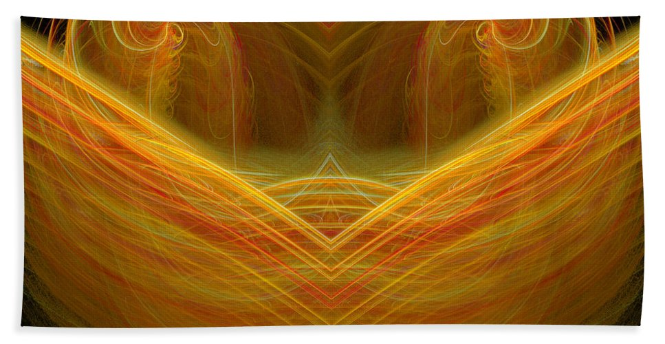 Fractal Digital Art Beach Towel featuring the photograph Abstract 101 by Mike Nellums