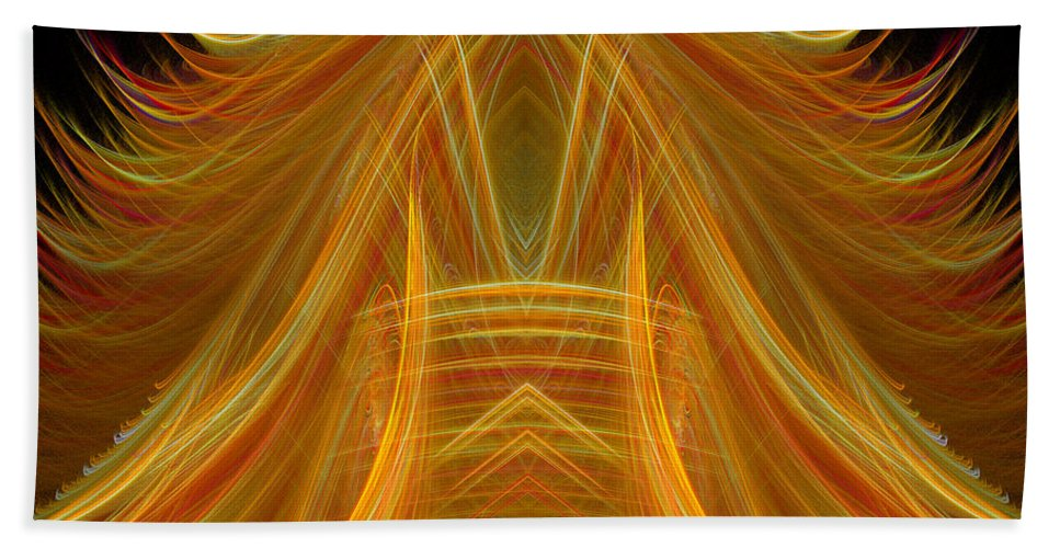 Fractal Digital Art Beach Towel featuring the photograph Abstract 102 by Mike Nellums