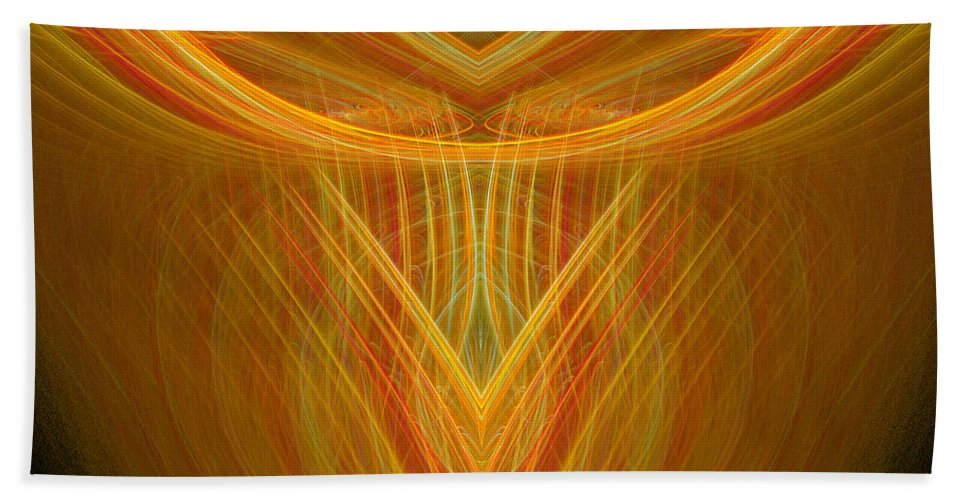Fractal Digital Art Beach Towel featuring the photograph Abstract 104 by Mike Nellums