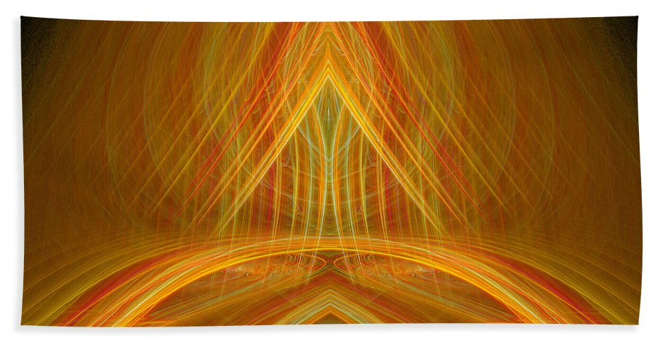 Fractal Digital Art Beach Towel featuring the photograph Abstract 105 by Mike Nellums
