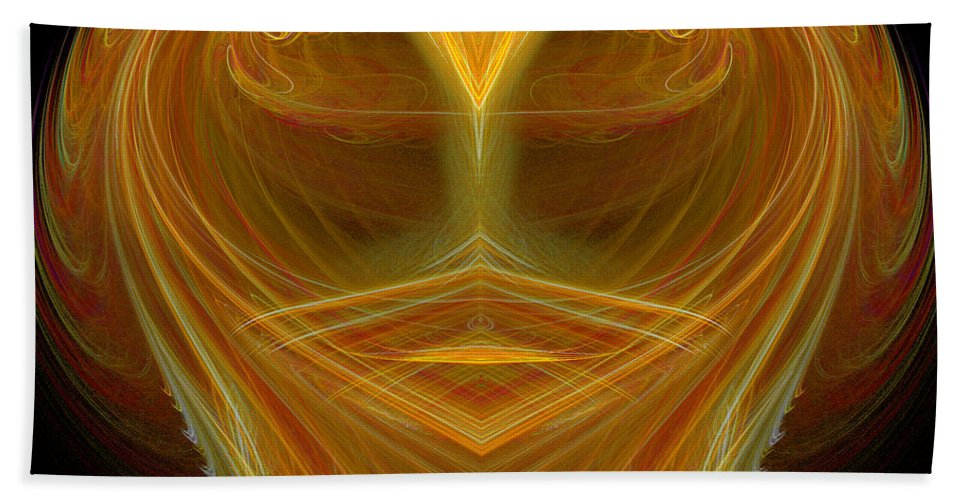 Fractal Digital Art Beach Towel featuring the photograph Abstract 106 by Mike Nellums