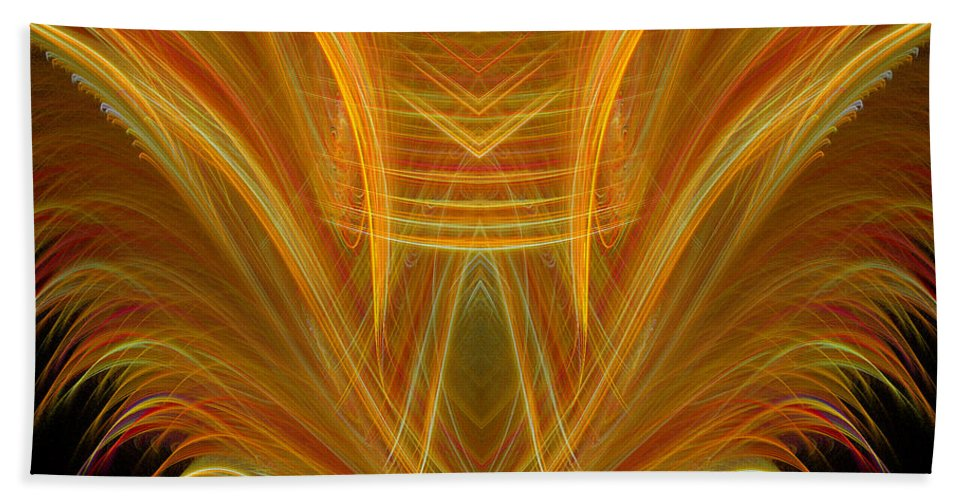 Fractal Digital Art Beach Towel featuring the photograph Abstract 107 by Mike Nellums