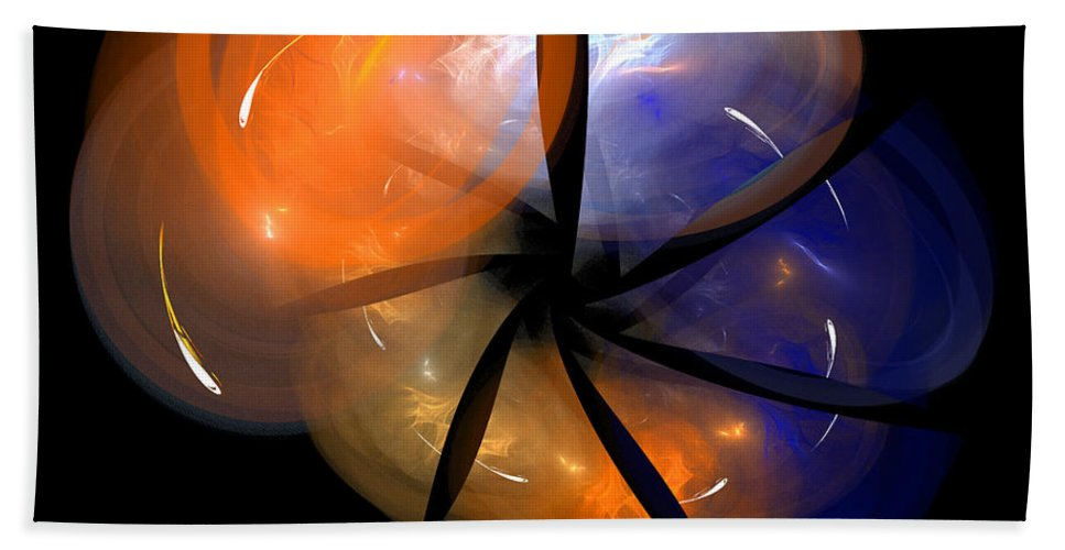 Fractal Digital Art Beach Towel featuring the photograph Abstract Eighty-eight by Mike Nellums