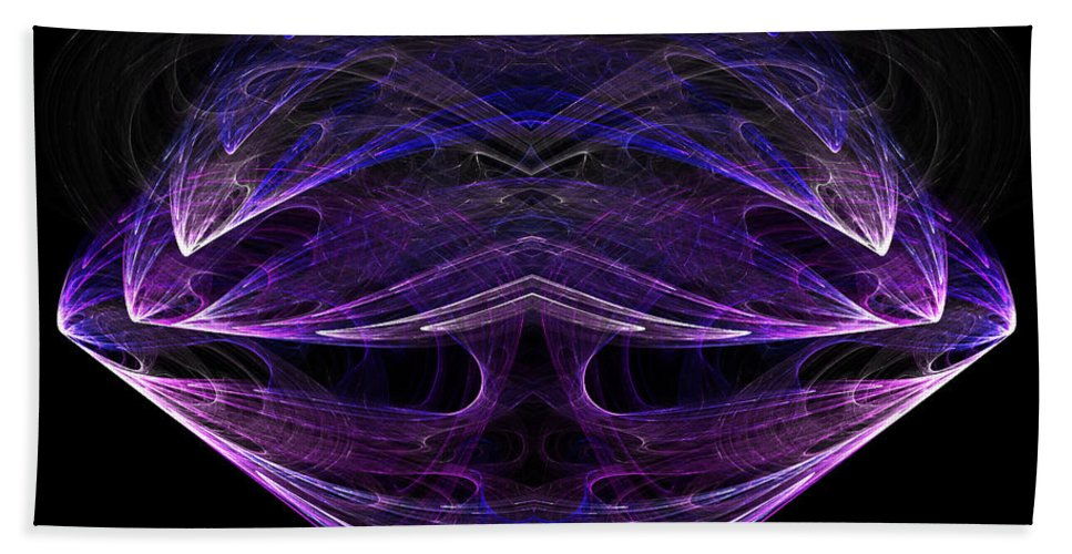 Fractal Digital Art Beach Towel featuring the photograph Abstract Eighty-one by Mike Nellums