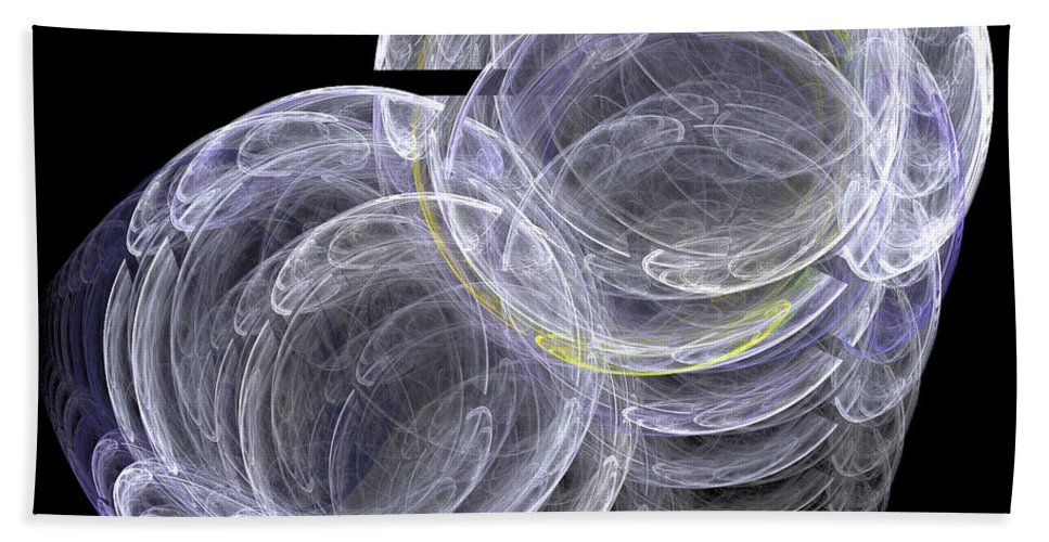 Fractal Digital Art Beach Towel featuring the photograph Abstract Fifty-eight by Mike Nellums