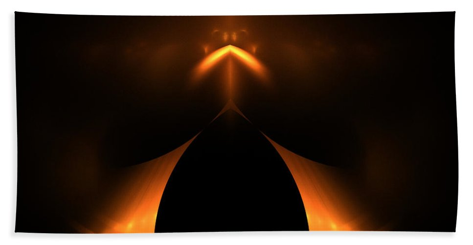 Fractal Digital Art Beach Towel featuring the photograph Abstract Fifty-one by Mike Nellums
