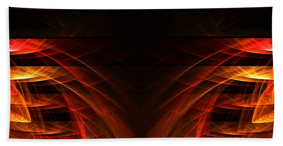 Fractal Digital Art Beach Towel featuring the photograph Abstract Forty-eight by Mike Nellums