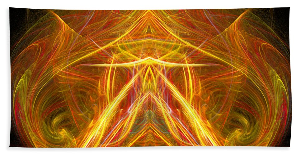 Fractal Digital Art Beach Towel featuring the photograph Abstract Ninety-eight by Mike Nellums