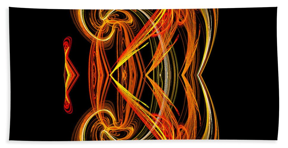 Fractal Digital Art Beach Towel featuring the photograph Abstract Ninety-one by Mike Nellums