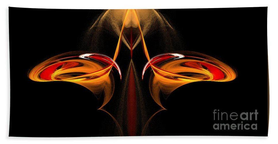Fractal Digital Art Beach Towel featuring the photograph Abstract Seven by Mike Nellums