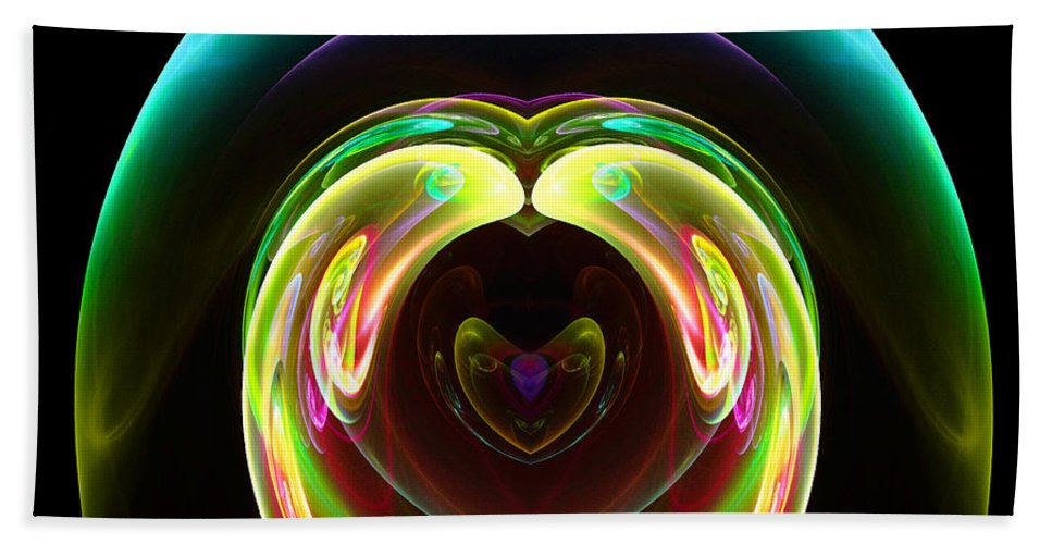 Fractal Digital Art Beach Towel featuring the photograph Abstract Seventy-one by Mike Nellums