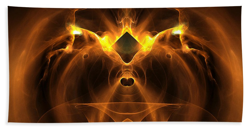 Fractal Digital Art Beach Towel featuring the photograph Abstract Sixty-five by Mike Nellums