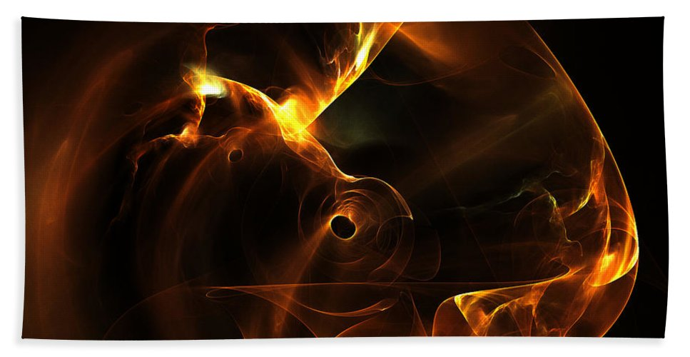 Fractal Digital Art Beach Towel featuring the photograph Abstract Sixty-nine by Mike Nellums