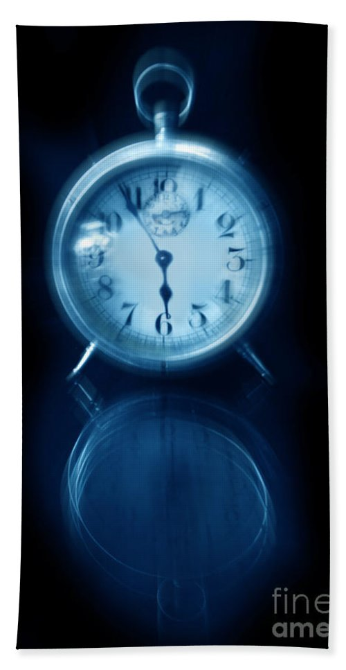 Clock Beach Towel featuring the photograph Alarm Clock by Jill Battaglia