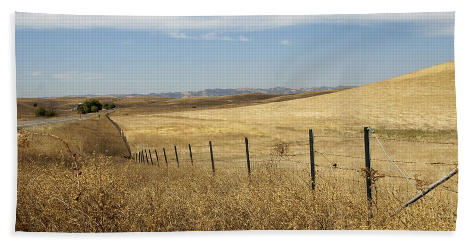 California Beach Towel featuring the photograph Along The Line by Kathleen Grace