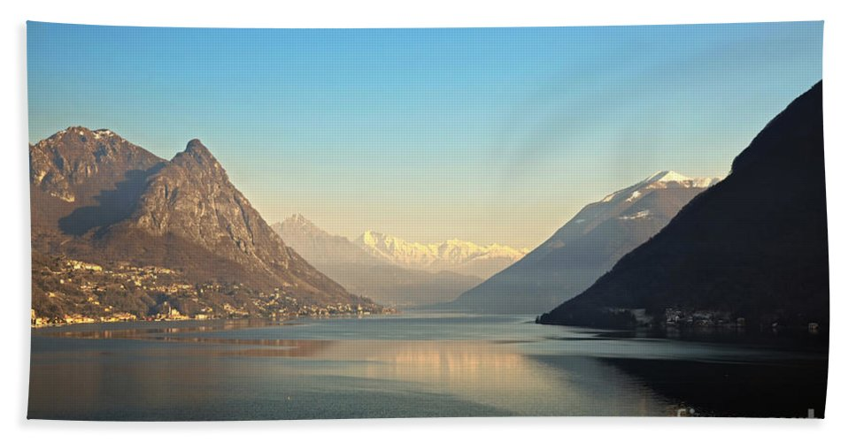Lake Beach Towel featuring the photograph Alpine Lake by Mats Silvan