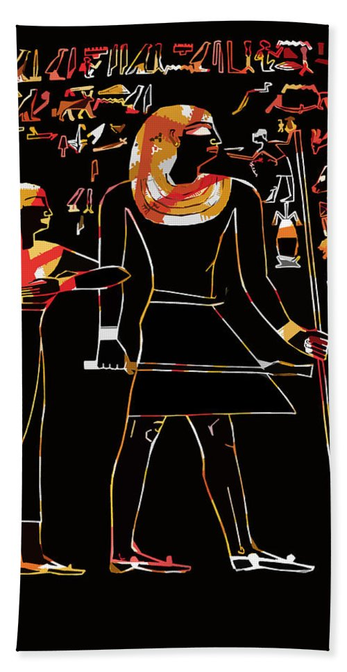 Ancient Beach Towel featuring the photograph Ancient Egyptian Hieroglyphs by James Hill