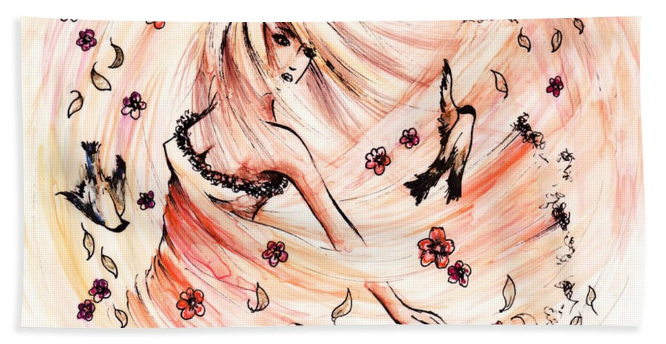 Figure Beach Towel featuring the drawing Angels Dance by William Russell Nowicki