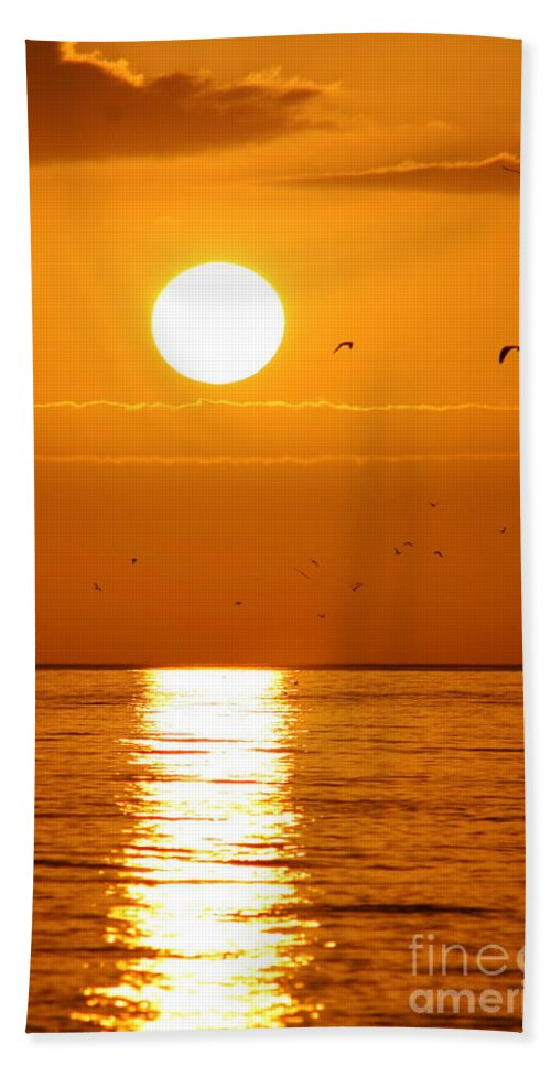 Auburn Sky Beach Towel featuring the photograph Auburn Sky by Christiane Schulze Art And Photography