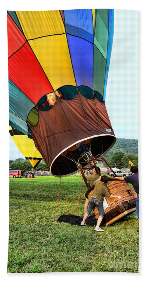 The Balloonist - Inside A Hot Air Balloon Beach Towel featuring the photograph Balloonist - Ready For Takeoff by Paul Ward