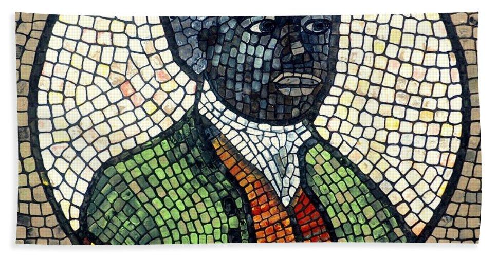 Black Man Beach Towel featuring the painting Bannaker by Cynthia Amaral