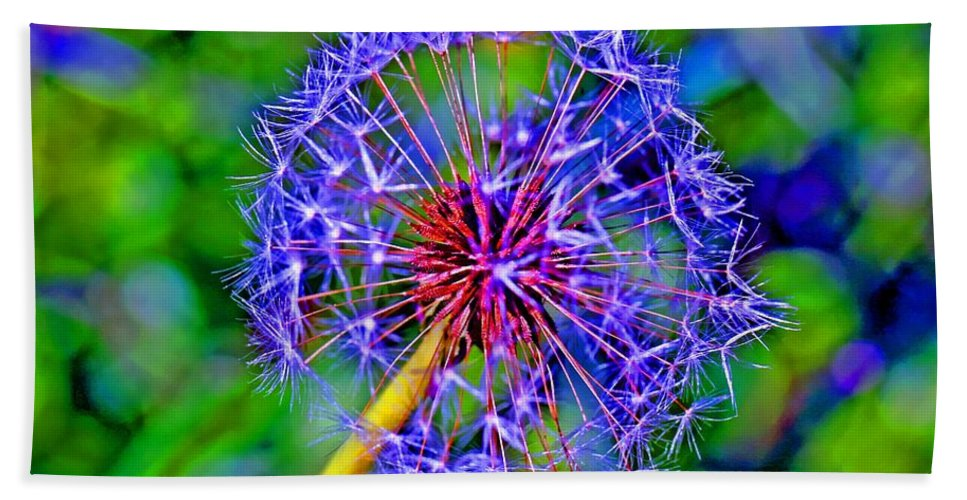 Blue Beach Towel featuring the photograph Blue Nature by Tap On Photo